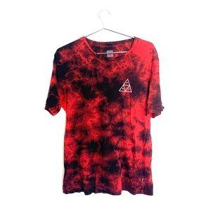 🔥Huf SF red tie dye men's shirt medium skater